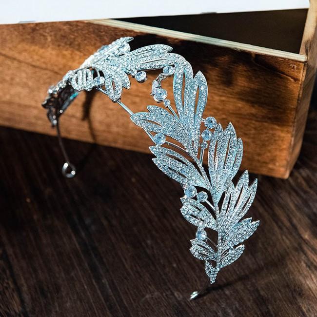Luxury Shining Rhinestone Tiaras Crowns Pendant Decor Jewellery Bride Noiva Wedding Hair Jewelry Accessories