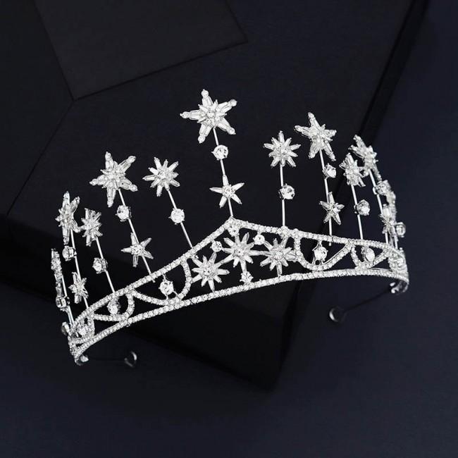 Bling Star Shining Crystal Wedding Crowns Bride Noiva Tiaras Crowns Princess Diadem Headbands Women Girls Jewelry
