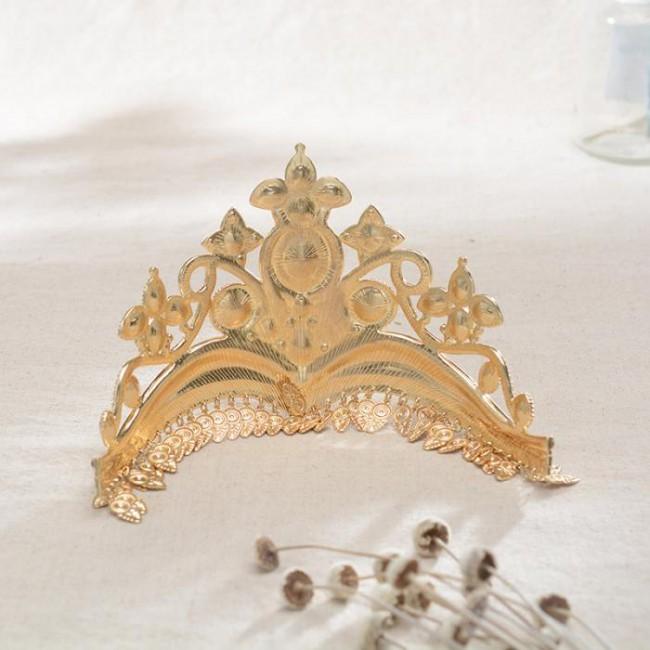 Vintage Colorful Luxury Crystal Princess Diadem Tiara Crowns Noiva Bride Wedding Party Hair Jewelry Accessories