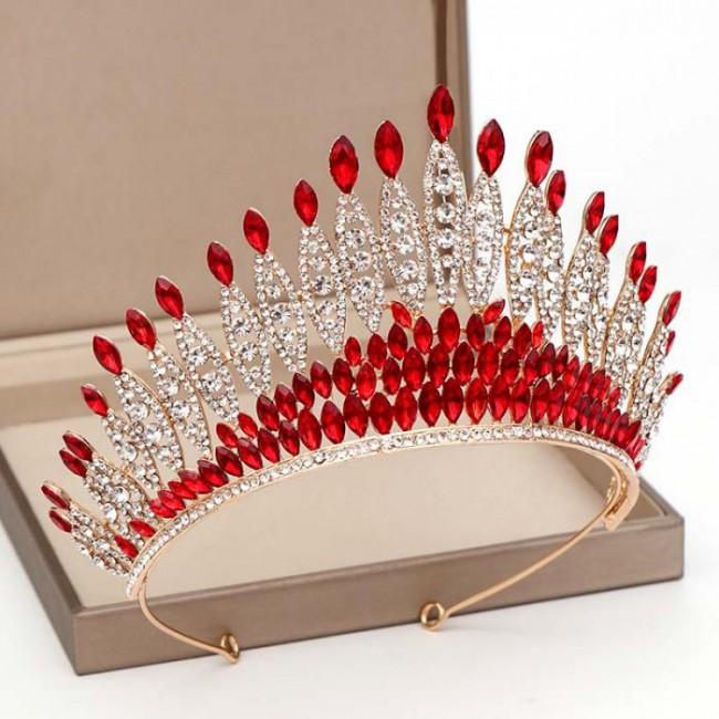 Fashion Queen Princess Crystal Tiara Crowns Diadem Women Girl Bridal Bride Noiva Wedding Party Hair Jewelry