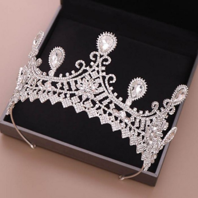 Crystal Royal Princess Diadem Tiaras Crowns de Noiva Wedding Party Hair Jewelry for Women Girl Bride