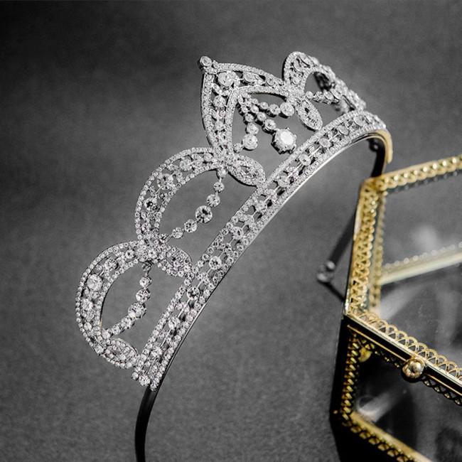 Luxury Silver Rhinestone Headbands Wedding Crown Women Bride Party Tiaras Crowns de Noiva Bridal Hair Ornaments