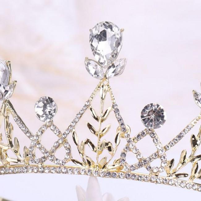 High Quality Rhinestone Crystal Tiaras Crown Royal Queen Princess Diadem Noiva Bride Bridal Wedding Hair Jewelry Accessories