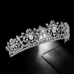 Women Girl Birthday Party Headbands Luxury Shining Crystal Tiaras Crowns Princess Diadem Bride Noiva Wedding Veil Jewelry