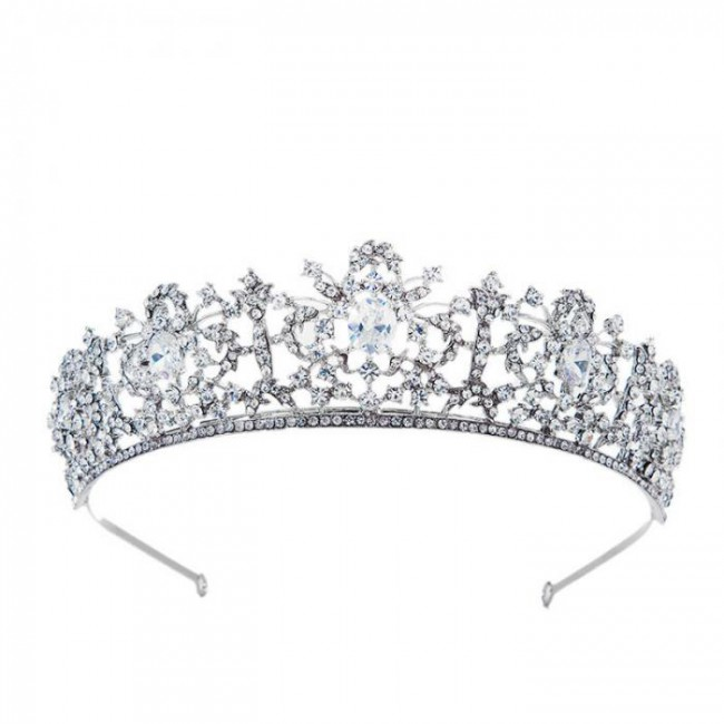 Women Girl Birthday Party Headbands Luxury Shining Crystal Tiaras Crowns Princess Diadem Bride Noiva Wedding Veil Jewelry