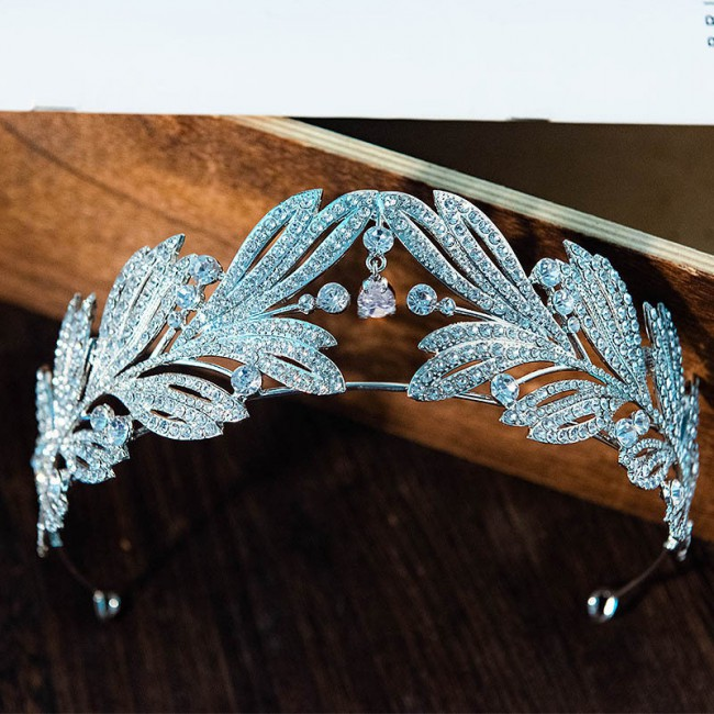 Fashion Luxury Shining Rhinestone Tiaras Crowns Pendant Decor Jewellry Bride Noiva Wedding Hair Jewelry Accessories
