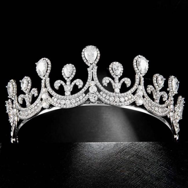 High Quality Luxury Rhinestone Shining Crystal Princess Diadem Tiaras Crowns Bride Noiva Wedding Party Hair Accessories