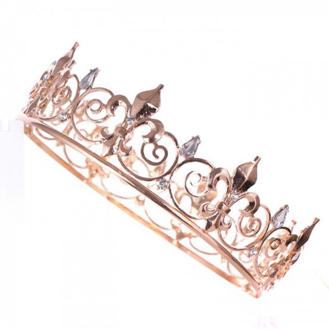 Large Tiaras Crown Jewelry Bridal Bride Wedding Party Princess Women Engagement Headwear