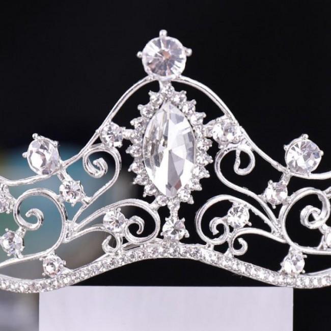 Crystal Princess Tiaras Noiva Bride Crowns Wedding Headwear Hair Accesorios