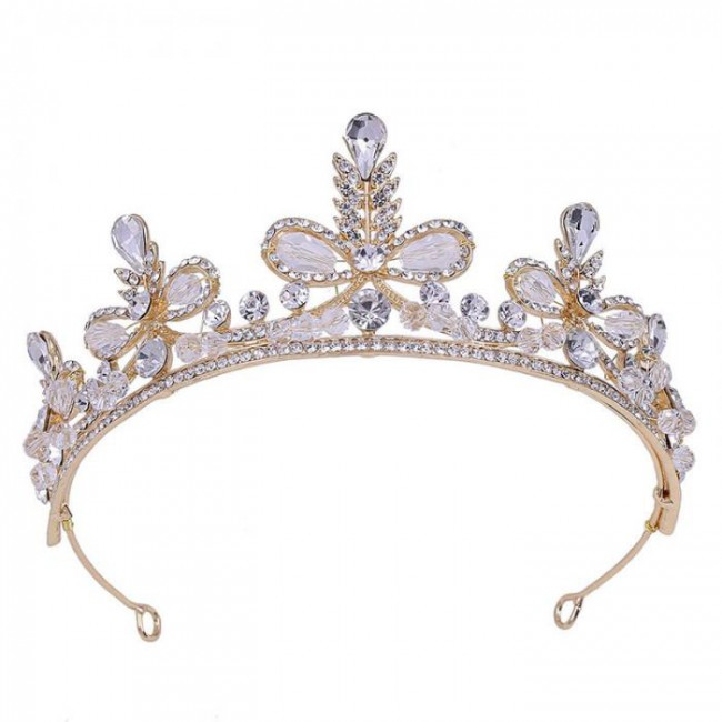 Delicate Shining Crystal Tiara Crowns Diadem Hairband Princess Pageant Bridal Bride Wedding Jewelry