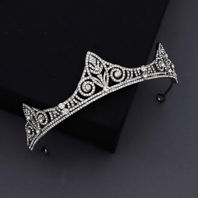 Delicate Royal King Queen Tiaras Crowns Shining Crystal Headbands Bride Noiva Wedding Hair Jewelry Accessories