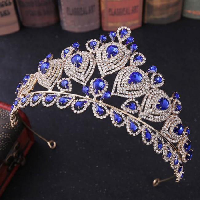 Retro Baroque Style Crystal Royal Princess Tiaras Crowns Diadem Bride Noiva Wedding Party Hair Jewelry