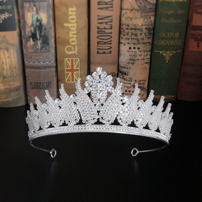 Shining Crystal Rhinestones Tiaras Crowns Princess Pageant Bride Noiva Bridal Wedding Party Hair Jewelry