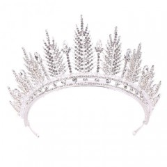 Women Girl Crystal Royal Tiara Crown Noiva Bridal Bride Wedding Hair Jewelry Accesorios