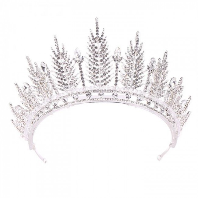 Women Girl Crystal Royal Tiara Crown Noiva Bridal Bride Wedding Hair Jewelry Accesorios