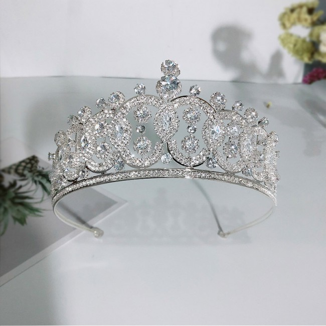 Luxury Shining Rhinestone Zircon Wedding Tiaras Crowns Bride Noiva Party Dress Hair Accessories
