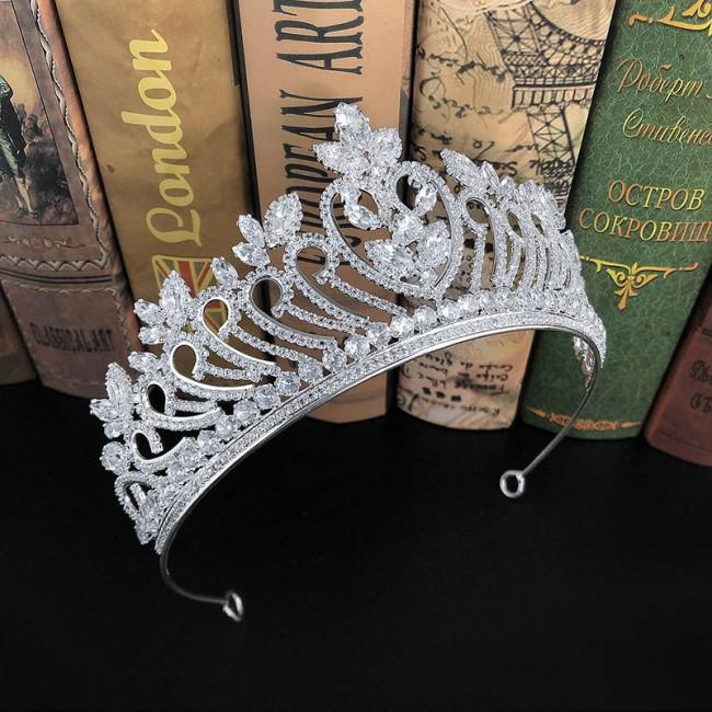 Shining Rhinestone Tiaras Crowns Princess Diadem Bride Noiva Bridal Wedding Party Hair Jewelry Accessories