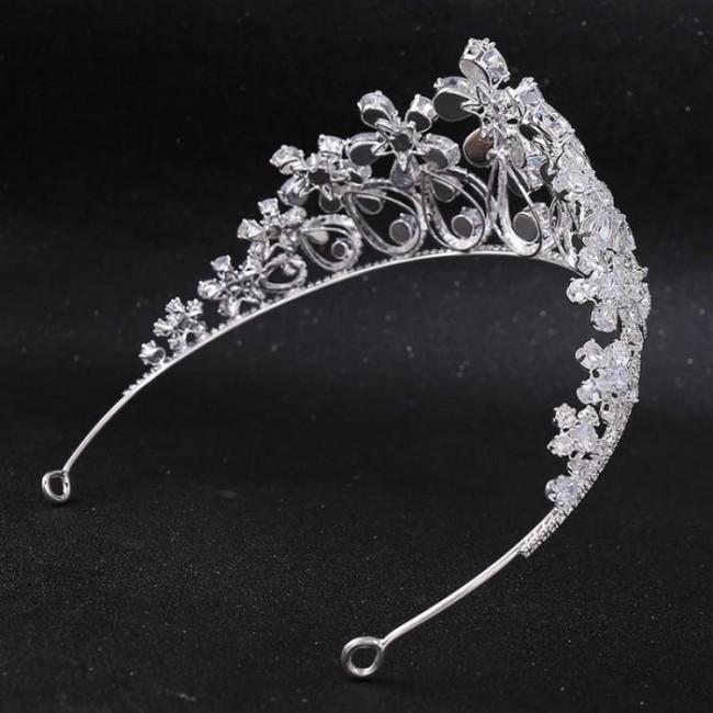 Women Girl Birthday Bride Wedding Party Shining Flower Crystal Tiaras Crowns de Noiva Headbands