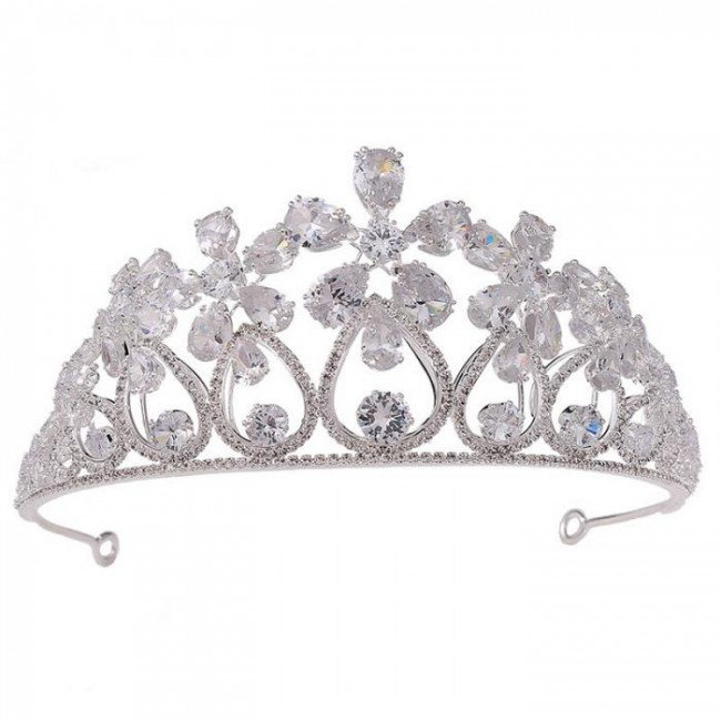 Women Girl Birthday Bride Wedding Party Shining Flower Crystal Tiaras Crowns de Noiva Headbands