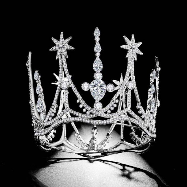 Retro Baroque Shining Crystal Princess Diadem Tiaras Crowns Bride Noiva Wedding Party Hair Bands