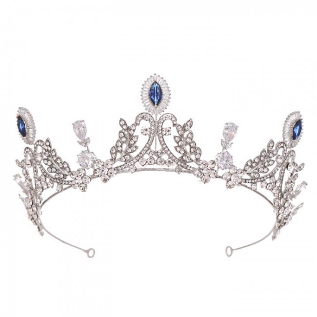 New Design Crystal Tiara Crown Headpiece Bride Noiva Wedding Party Queen Princess Pageant Hair Accessories