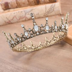 Vintage Baroque Style Crystal Tiaras Crown de Noiva Women Girl Bride Wedding Party Hair Accessories