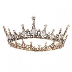 Vintage Baroque Style Crystal Tiaras Crown de Noiva Women Girl Bride Wedding Party Hair Accessories