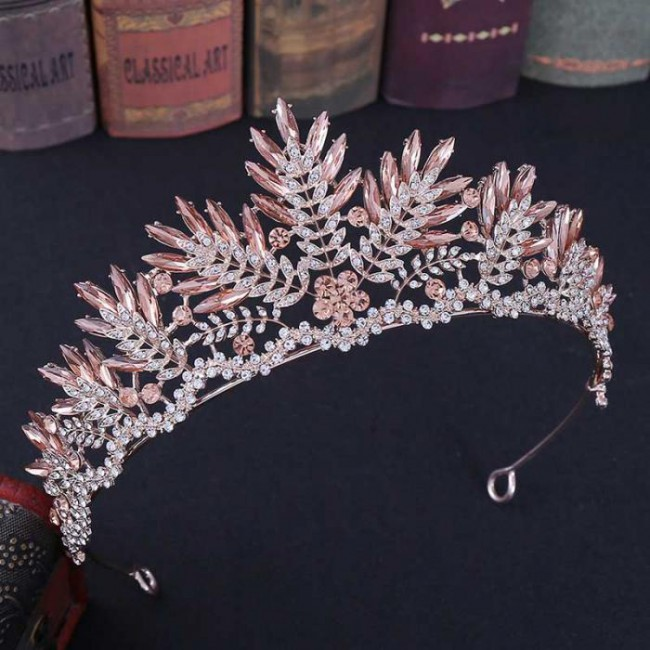 Luxury Shining Crystal Princess Diadem Bride Tiaras Crowns de Noiva Wedding Party Hair Accessories