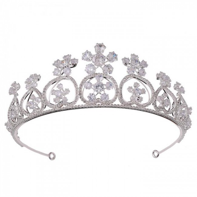 High Fashion Crystal Princess Diadem Tiaras Crowns Bride Noiva Wedding Party Women Girl Birthday Hair Jewelry