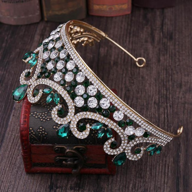 Fashion Shining Crystal Headbands Tiaras Crown Princess Bride Noiva Wedding Party Hair Accessories