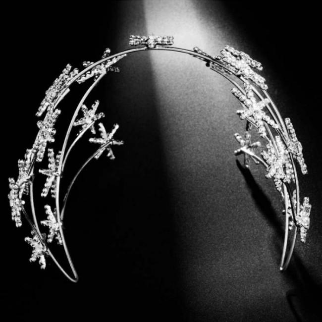 Fashion Star Shape Shining Crystal Tiaras Crown Women Girl Birthday Bride Bridal Wedding Party Headwear