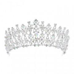 Shining Crystal Tiaras Crowns Diadem Princess Birthday Bridal Bride Wedding Hair Accessories
