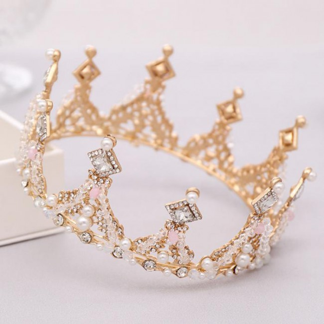 Crystal Pearls Bridal Bride Noiva Wedding Party Tiaras Crowns Royal Princess Diadem