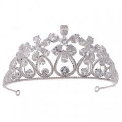 Women Girl Birthday Bride Wedding Party Shining Flower Crystal Tiaras Crowns Headbands