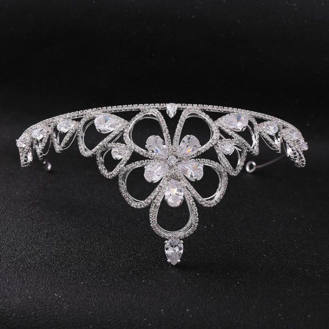Fashion Shining Crystal Princess Tiaras Crowns Headpieces Bride Noiva Women Wedding Party Hair Ornaments