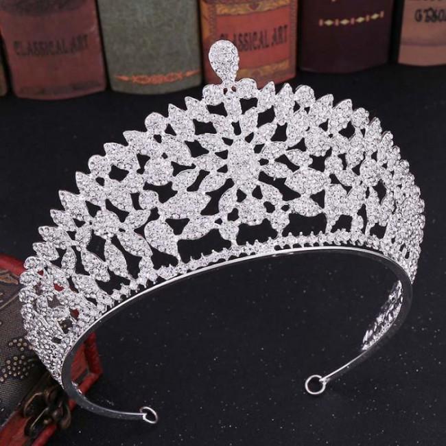 Delicate Baroque Crystal Tiaras Crowns Noiva Bridal Bride Wedding diadem Hair Jewelry Accessories