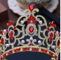 Luxury Multi-Color Crystal Hollow Out Bridal Tiaras Crown Wedding Hair Jewelry Accessories Big Bride Diadem for Women Girls
