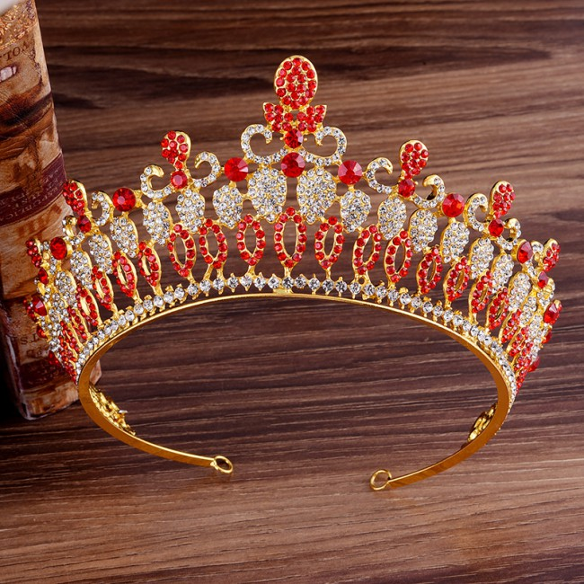 Big Hollow Crystal Wedding Diadem Rhinestone Queen Tiaras Crowns Headbands For Bride Hair Jewelry Women Accessories