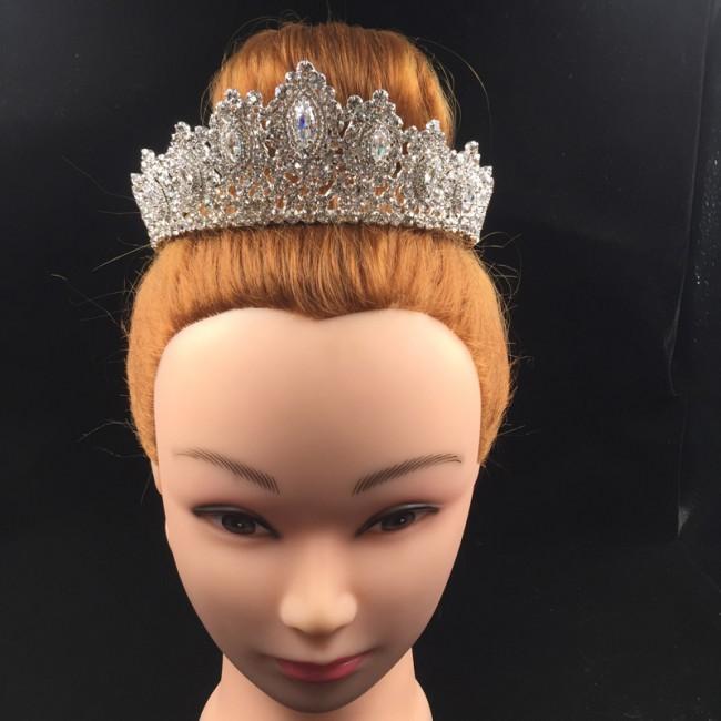 Rhinestone Crowns Vintage Style Big Eye Shape Wedding Accessories Bridal Hair Tiaras Gold Party