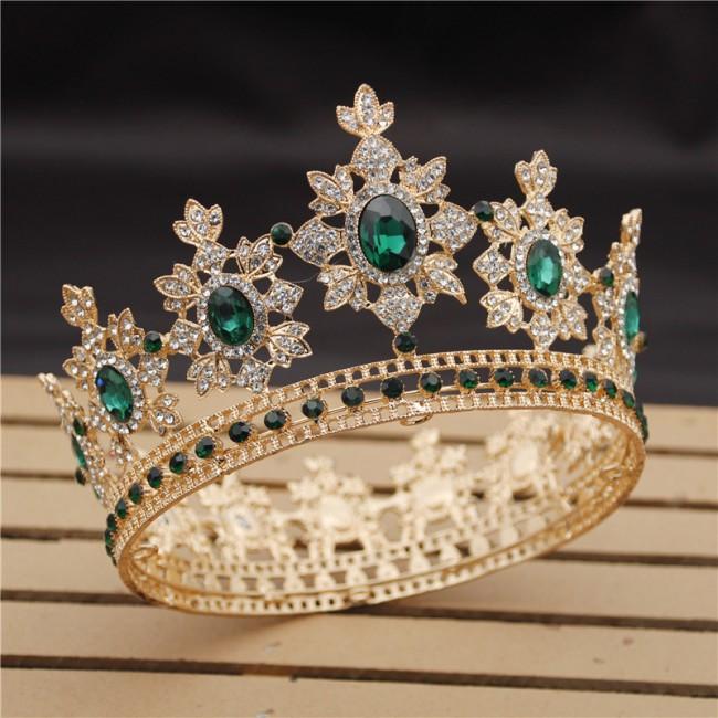 Luxury Royal King Wedding Crown Bride tiaras Crowns Queen Hair Jewelry Crystal Diadem Prom Headdress Head Accessorie