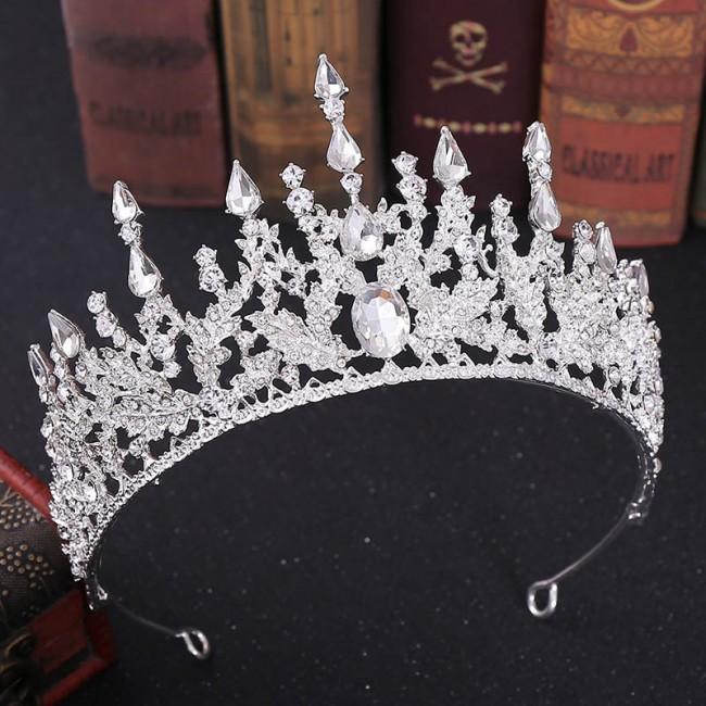 Retro Baroque Style Shining Crystal Tiaras Crowns Bride Headbands Bridal Wedding Party Hair Accessories