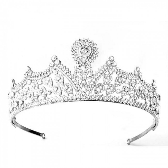 Luxury Wedding Bridal Handmade Tiaras Shiny Rhinestone Water Drop Crowns Fashion Women Hair Jewelry Accessories