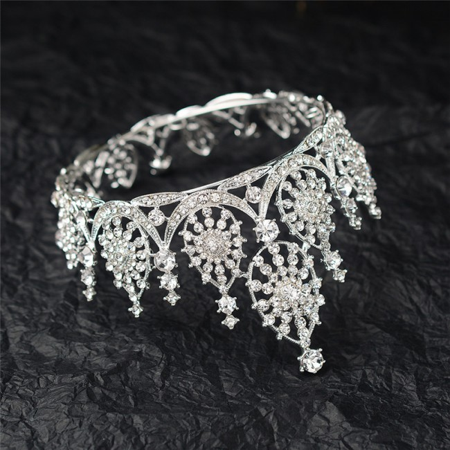 Wedding Crown Tiara Hairband Party Engagement Hair Accessories for Bride Big Crowns High Quality Luxury Queen Hairwear