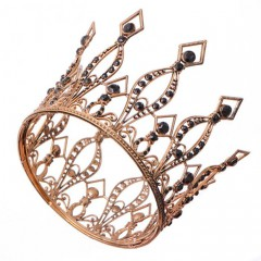 Vintage Baroque Crystal Tiaras Crowns Bride Wedding Party Headbands Hair Jewelry Accessories