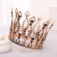 Vintage Baroque Crystal Tiaras Crowns Bride Wedding Party Headbands Hair Jewelry Accessories