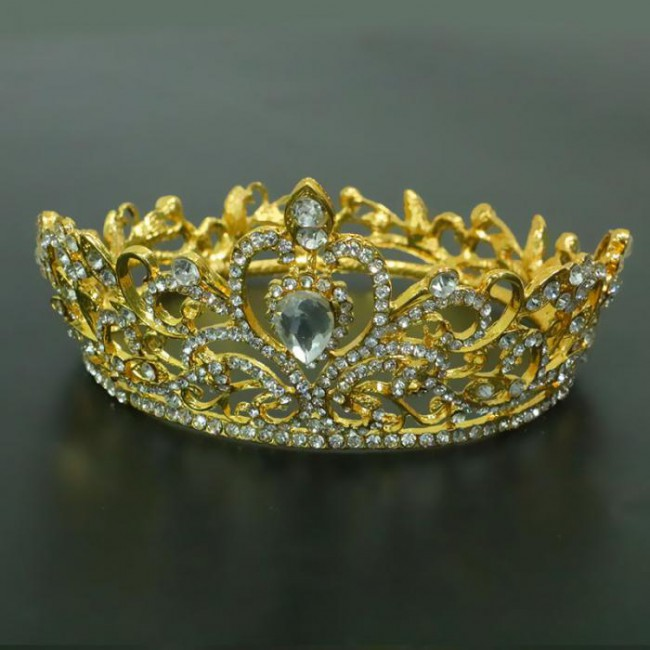 High Fashion Water Drop Crystal Tiaras and Crowns Bride Noiva Wedding Party Hair Jewelry Headband Diadem