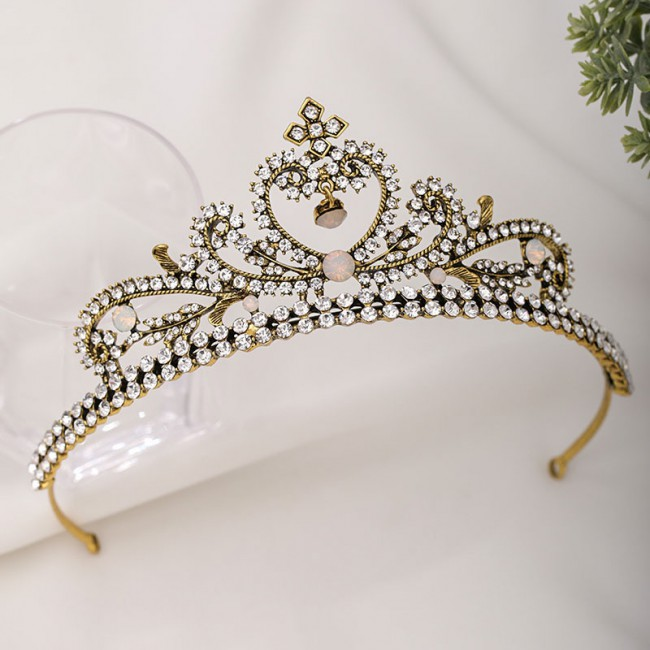 Women Girls Birthday Party Bride Noiva Bridal Wedding Hair Jewelry Shining Rhinestone Tiaras Crowns Headband
