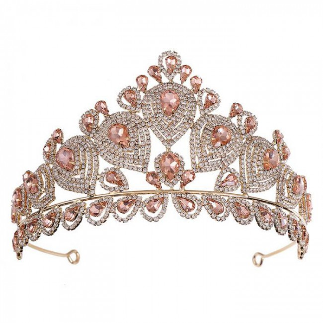 Women Girl Bride Wedding Party Tiara Crown Big Crystal Princess Diadem Headbands Hair Jewelry Accessories