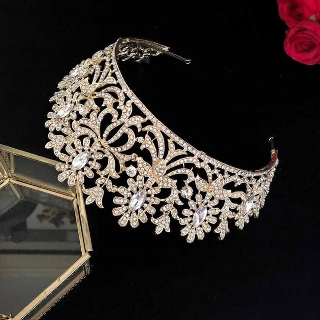 Bridal Wedding Tiara Crown Rhinestone Headband for Women Fashion Desinger Bride Noiva Hair Jewelry