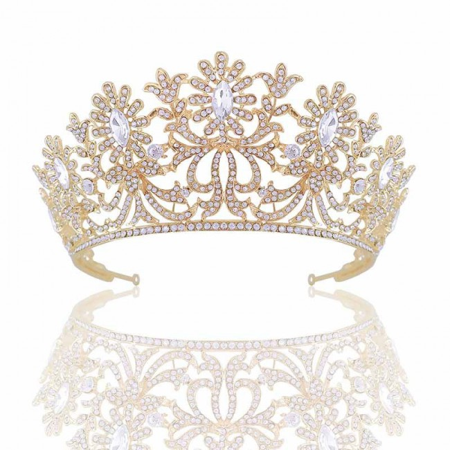 Bridal Wedding Tiara Crown Rhinestone Headband for Women Fashion Desinger Bride Noiva Hair Jewelry